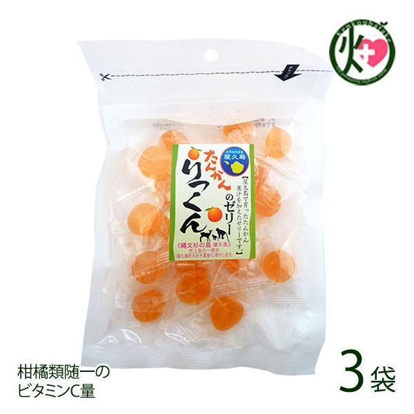 たんかんのゼリー 100g×3P 屋久島ふれあい食品 鹿児島県 人気 定番 土産 果汁ゼリー 柑橘類随一のビタミンC量 送料無料