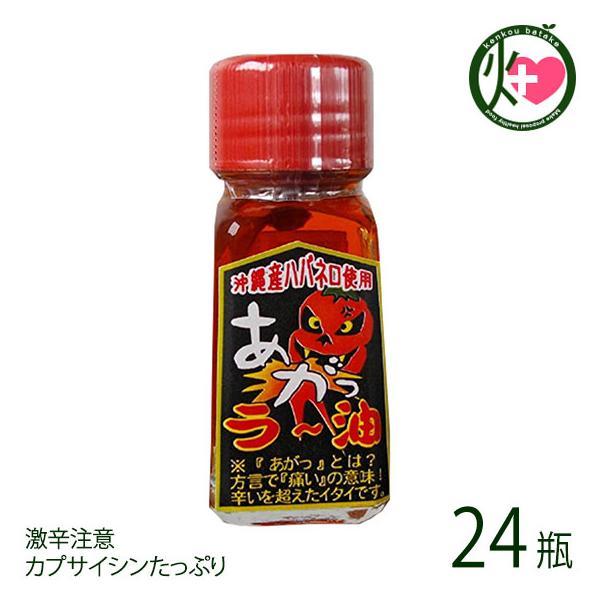 あがっ ラー油 20g×24瓶 渡具知 沖縄 人気 土産 調味料 辛いもの好きにおすすめ 沖縄土産にも最適なスパイス 激辛注意 カプサイシンたっぷり 送料無料