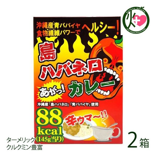 島ハバネロカレー 145g×3食入×2箱 渡具知 沖縄 人気 土産 低カロリー カレー たけしの家庭の医学 ターメリック クルクミン 送料無料