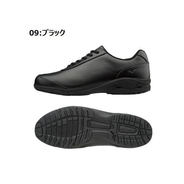 【送料無料】MIZUNO ミズノ ウォーキングシューズ LD-EX 02 (09ブラック)[B1GC172209] ビジネス 人工皮革 メンズ レディース ユニセ