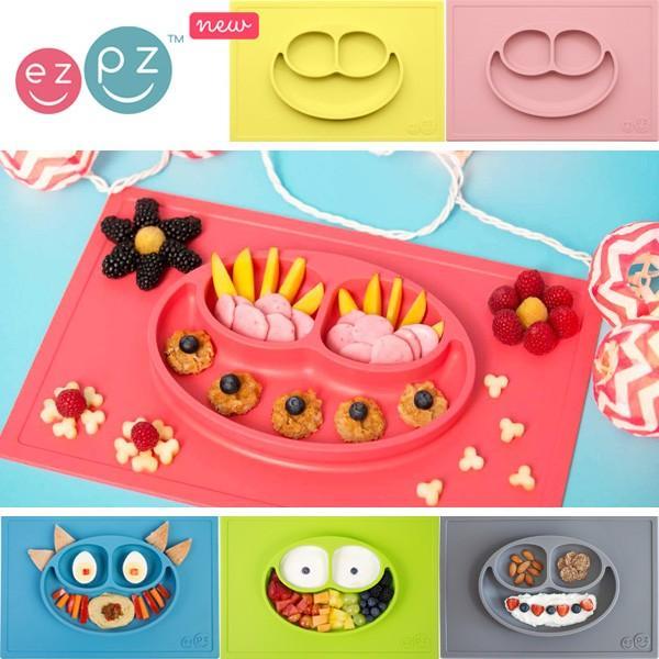 出産祝い ベビー食器 シリコン マット イージーピージー ezpz ハッピーマット Happy Mat シリコン製 食洗機 電子レンジ ベビー用品 プレゼント 正規品|kenkou-otetsudai