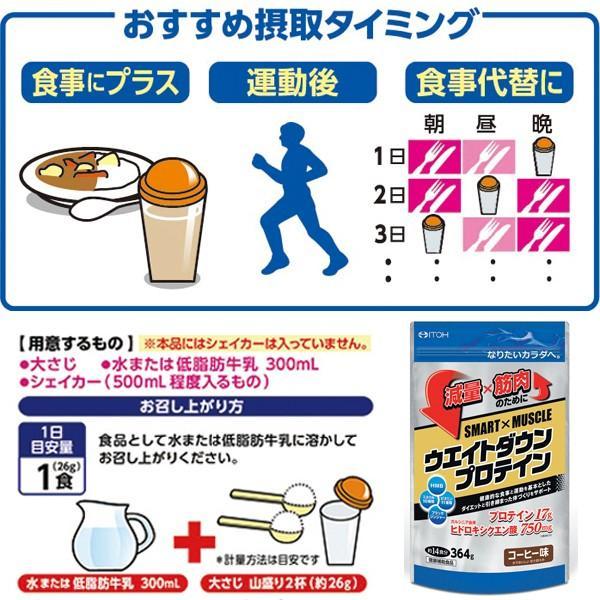 プロテイン ダイエット SMART×MUSCLE ウエイトダウンプロテイン 364g コーヒー味 井藤漢方製薬|kenkou-otetsudai|04