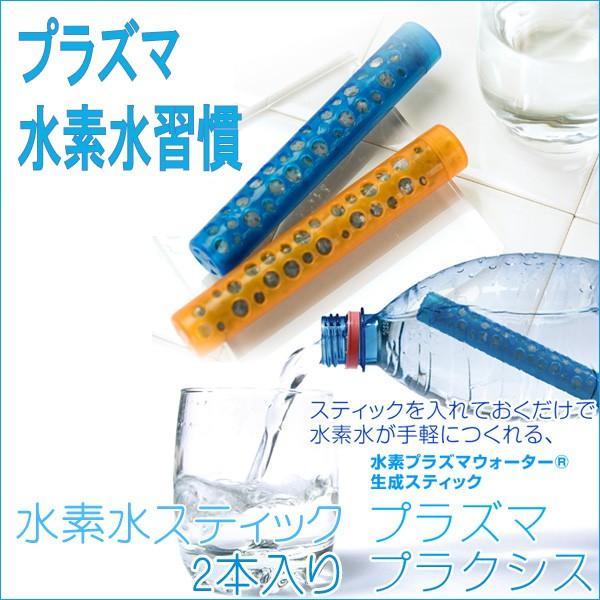 水素水 スティック 水素水生成器プラズマプラクシス 2本入り|kenkou-otetsudai