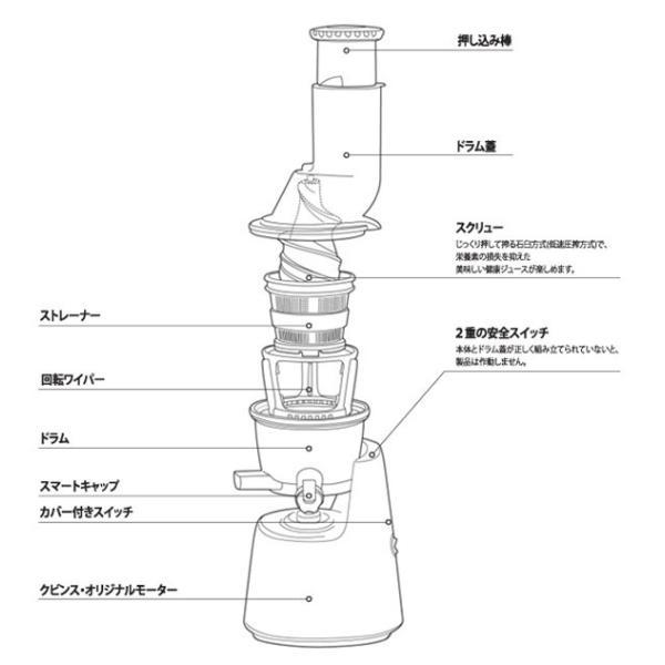 ジューサー クビンス Kuvings ホールスロージューサー JSG-721M 送料無料 kenkou-otetsudai 06