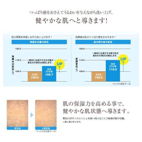 素あわ ボディウォッシュ詰替え800ml(2回分)3袋セット 乾燥肌 敏感肌 アトピー 無添加 ボディソープ 石鹸 薬用 医薬部外品 子供 |kenkou-senka|04