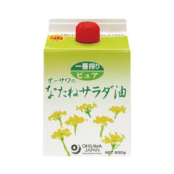 オーサワのなたねサラダ油(紙パック)(600g)