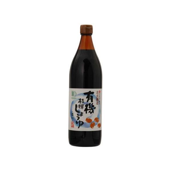 有機杉樽しょうゆ・濃口(900ml)【マルシマ】
