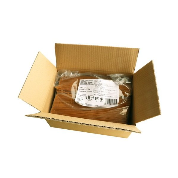 業務用 ジロロモーニ 全粒粉デュラム小麦 有機スパゲッティ(5kg)※「キャンセル不可、3箱以上で重量加算あり」 【創健社】※荷物総重量20kg以上で別途料金必要