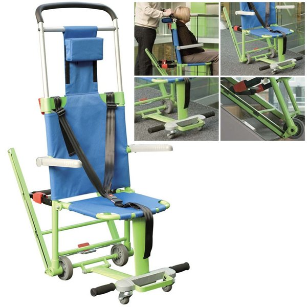 車椅子(車いす) エクセル・チェアー  非常用階段避難車 テクノグリーン・UL-916001