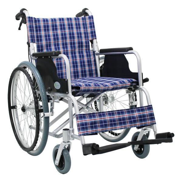 車椅子 軽量 折りたたみ車いす ノーパンクタイヤ仕様 CUYFWC-980 自走用車椅子 アルミ製車イス|kenkul|02