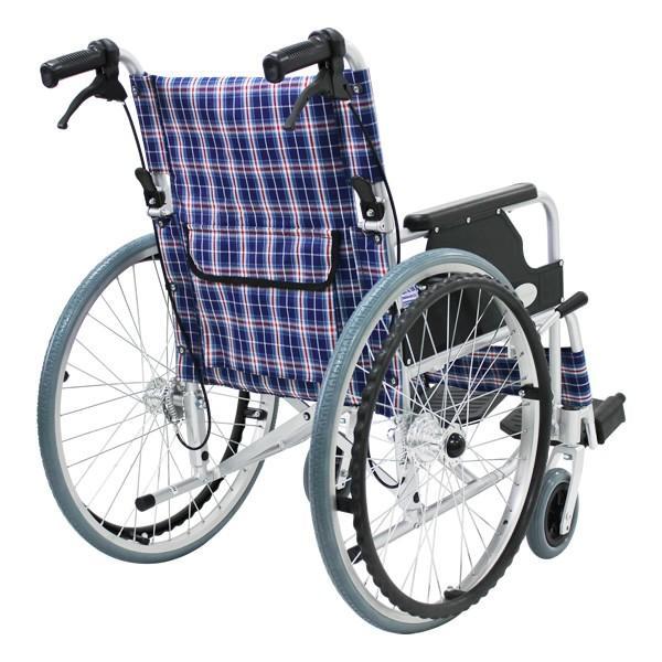 車椅子 軽量 折りたたみ車いす ノーパンクタイヤ仕様 CUYFWC-980 自走用車椅子 アルミ製車イス|kenkul|04