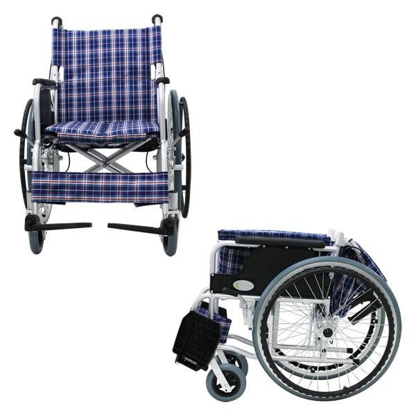 車椅子 軽量 折りたたみ車いす ノーパンクタイヤ仕様 CUYFWC-980 自走用車椅子 アルミ製車イス|kenkul|05