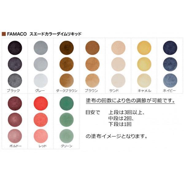 FAMACO ファマコ スエードカラーダイムリキッド75ml/液体補色・保革剤 スエード・ヌバック専用 ※宅配便発送
