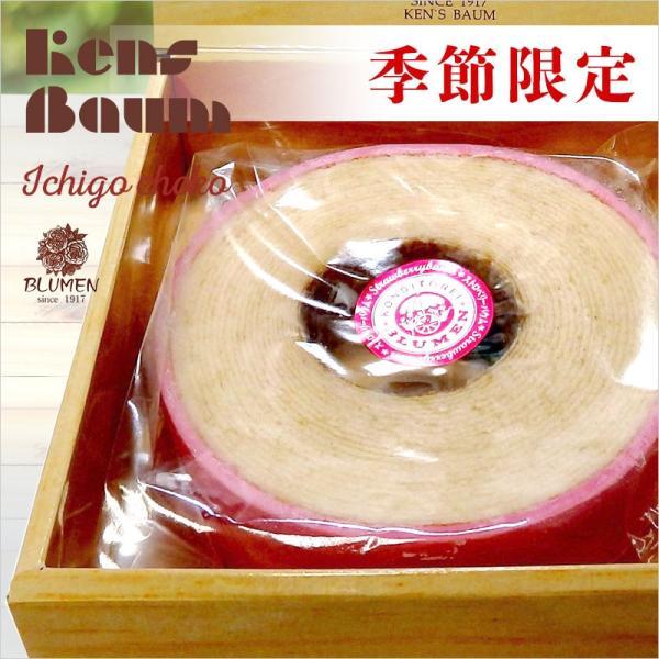 季節限定イチゴチョコバウム バウムクーヘン 10月〜3月限定 美味しい ギフト 個包装 苺 ストロベリー ホール|kensbaum