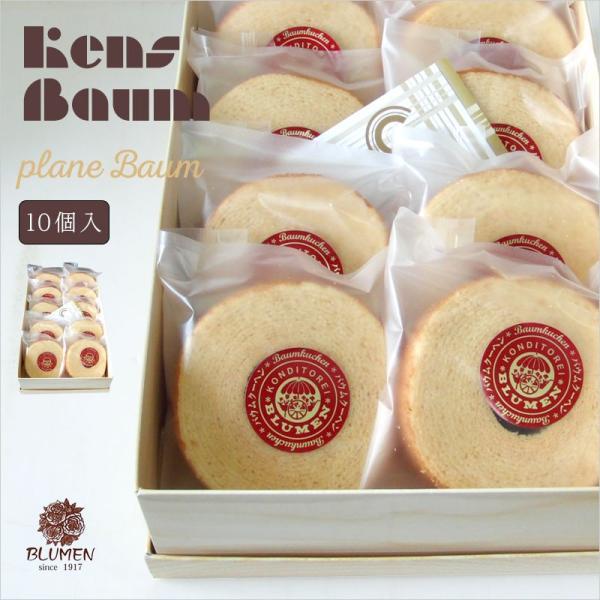 プレーンバウム10個セット バウムクーヘン 美味しい ギフト 個包装|kensbaum