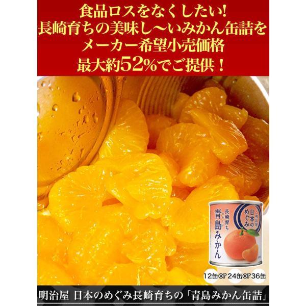 明治屋 日本のめぐみ長崎育ちの「青島みかん缶詰」12缶 みかん ミカン 蜜柑 缶詰 果物 フルーツ デザート