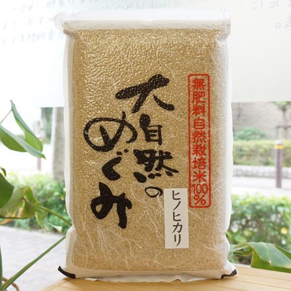 無肥料無農薬「大自然のめぐみ」ヒノヒカリ【熊本県産】【精米可能】