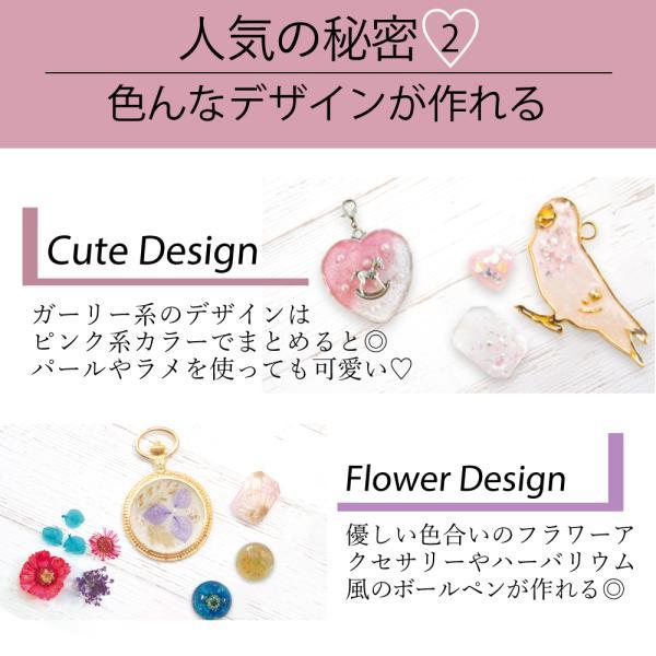 【送料無料】kerata UV レジン クラフト セット スターターキット 初心者 ドライフラワーでボタニカルアクセが作れる|kerata|05