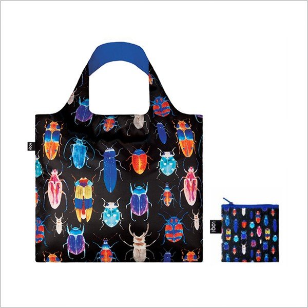 エコバッグ インセクト LOQI ローキー ショッピングバッグ おしゃれ かわいい 大容量 コンパクト 折りたたみ|kerikeri365|02