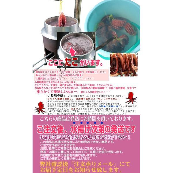 煮蛸 【小野敏商店】 (500g前後) 気仙沼 煮だこ たこ足 やわらか 無添加|kesennuma-san|04