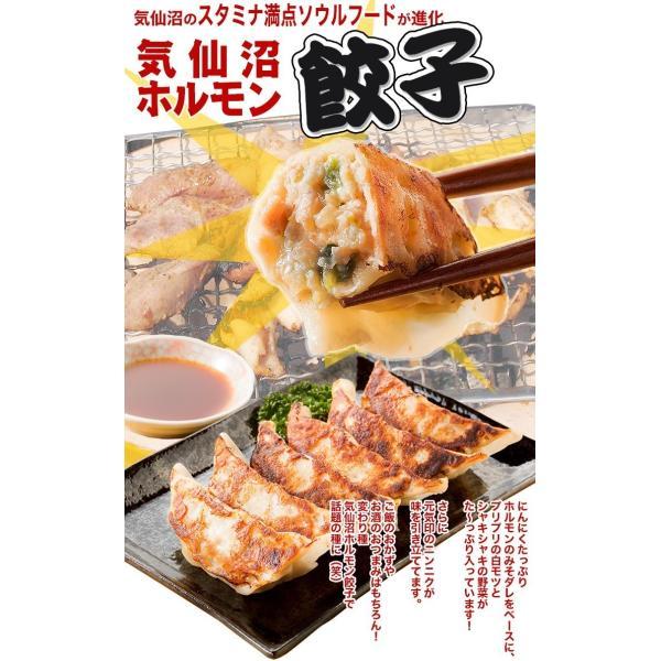 気仙沼ホルモン餃子 【からくわ】 (8個×2パック) 豚ホルモン 赤 白 モツ 焼き肉 鍋 レシピ 作り方 お取り寄せ|kesennuma-san|02