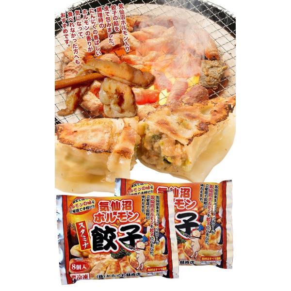 気仙沼ホルモン餃子 【からくわ】 (8個×2パック) 豚ホルモン 赤 白 モツ 焼き肉 鍋 レシピ 作り方 お取り寄せ|kesennuma-san|03