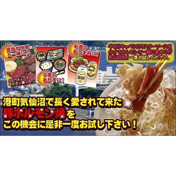 気仙沼ホルモン 焼肉のたれ味(醤油) 【片浜屋】 (1kg) 豚ホルモン 赤 白 モツ 焼き肉 鍋 レシピ 作り方 お取り寄せ|kesennuma-san|06