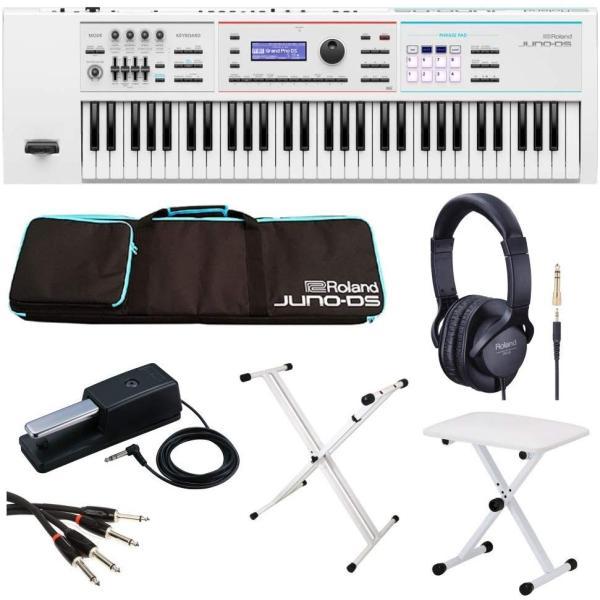 シンセサイザー キーボード ローランド 61鍵盤 Roland JUNO-DS61W 【Roland製/純正アクセサリーセット】 キーボードスタンド・ベンチ付き