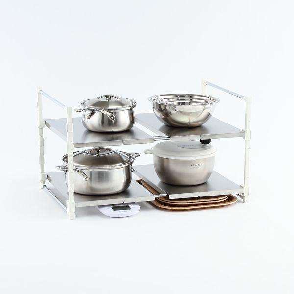 キッチンラック 卓上ラック キッチンスタンド 鍋置き キッチン収納 | arrots 伸縮ラック 送料無料 KEYUCA(ケユカ)