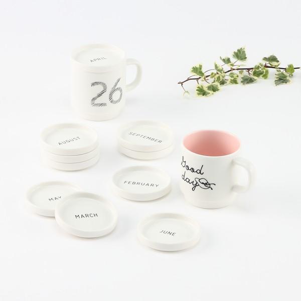 ふた マグカップのフタ 蓋 受け皿 ギフトセット プレゼント | Monthly Plate Cap マグカップふた KEYUCA(ケユカ)(特別価格)