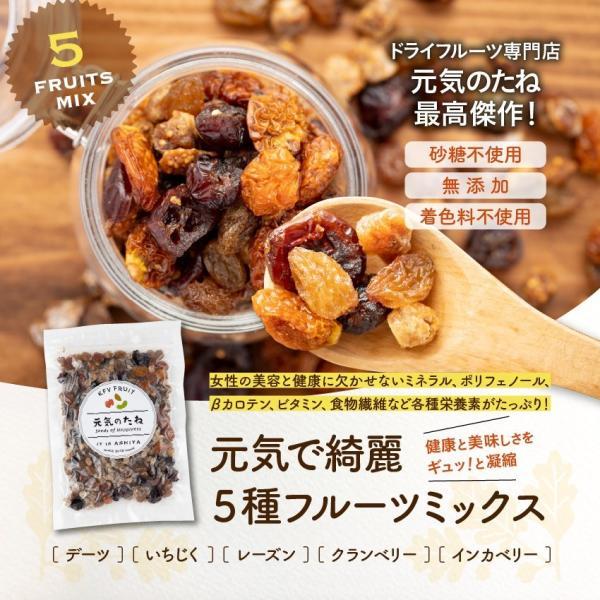 オーガニック 無添加 砂糖不使用 元気で綺麗 5種 フルーツミックス 小分け 1kg 送料無料 ドライフルーツ 業務用 有機