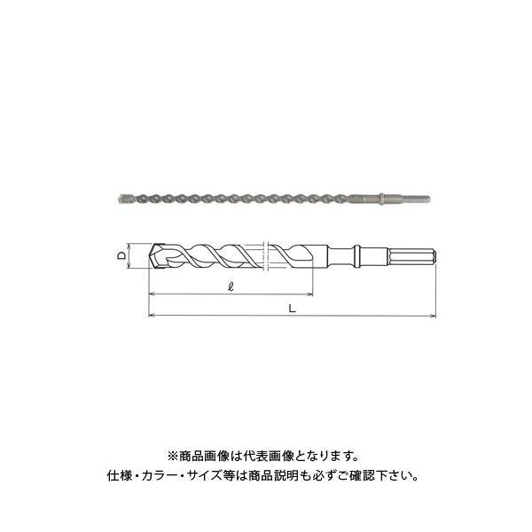 関西工具製作所 六角軸ハンマー・ドリルビット 23.0mm (D) x 505mm (L) 1本 2100050230