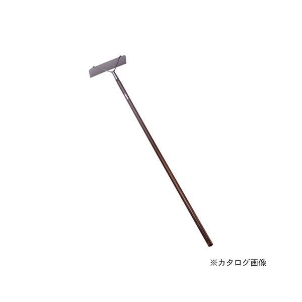 (個別送料1000円)(直送品)仁作 ステンレス製 家畜用レーキ(茶柄付) No.230