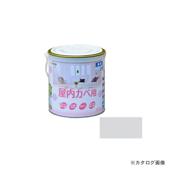 アサヒペン AP NEW 水性インテリアカラー屋内カベ 0.7L (ミストグレー)
