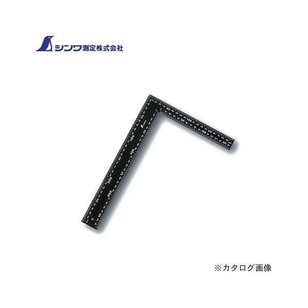 シンワ測定 フラットスコヤ 黒色 30×20cm 白目盛 62359