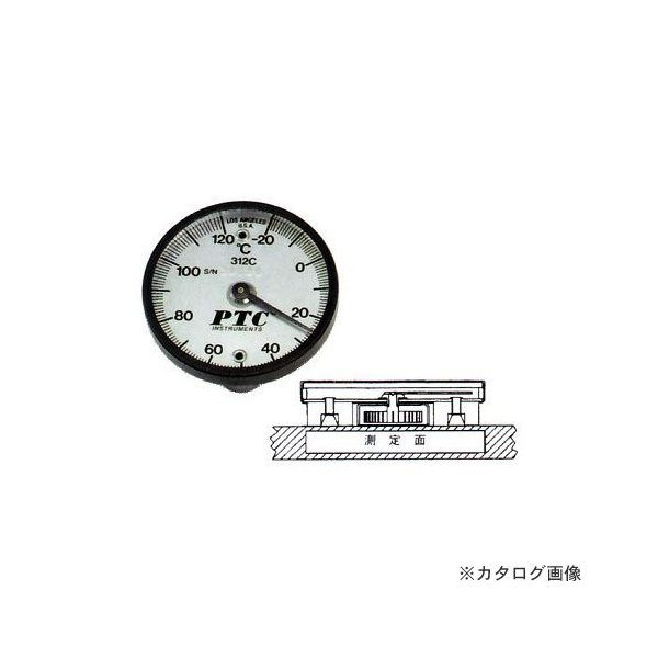 タスコ TASCO マグネット付表面温度計+10〜+400℃ TA409-400