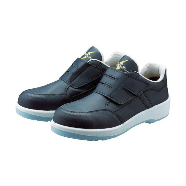 シモン 静電プロスニーカー 短靴 8818N紺静電仕様 24.5cm 8818BUS-24.5