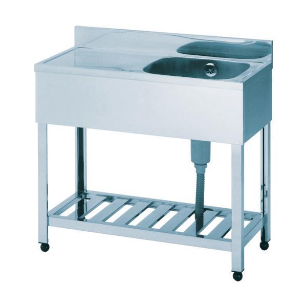 (直送品)アズマ 一槽水切シンク右水槽 1200×600×800 HPM1-1200R