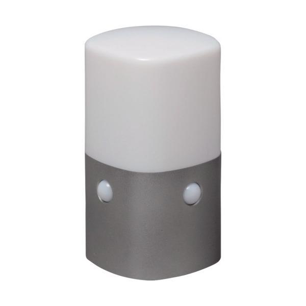 IRIS 乾電池式LEDセンサーライト スタンドタイプ 角型 白色 OSL-MN2K-WS