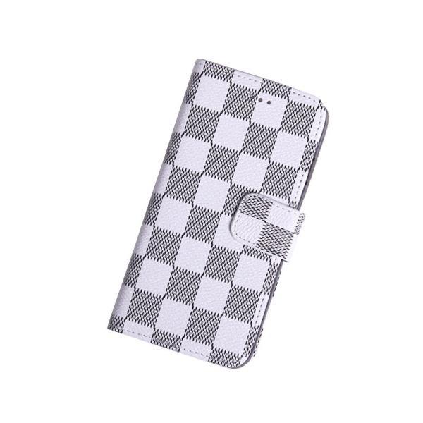 cfd78330ea iPhone6 ケース手帳型ブランドチェック柄お洒落で便利なiPhoneケース(ホワイト) ...