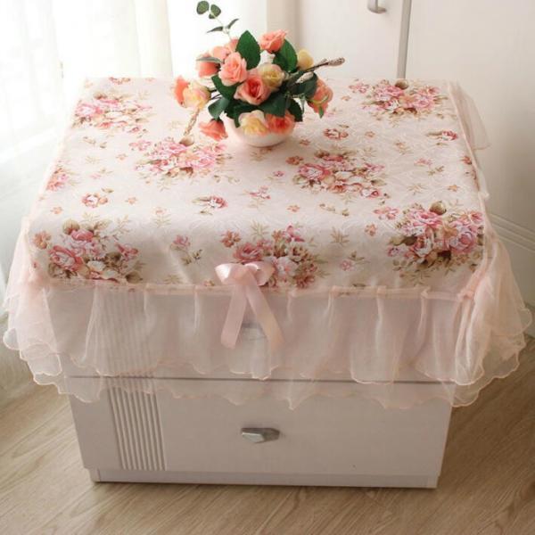 ネコポス便対応 テーブルクロス薔薇花柄正方形テーブルカバー直径75cm洗える