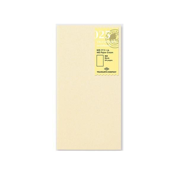 デザインフィル ミドリカンパニー Refill MD Paper Cream / レギュラーサイズ リフィル MDクリーム 手帳 リフィル 替え紙レギュラーサイズレギュラーサイズ