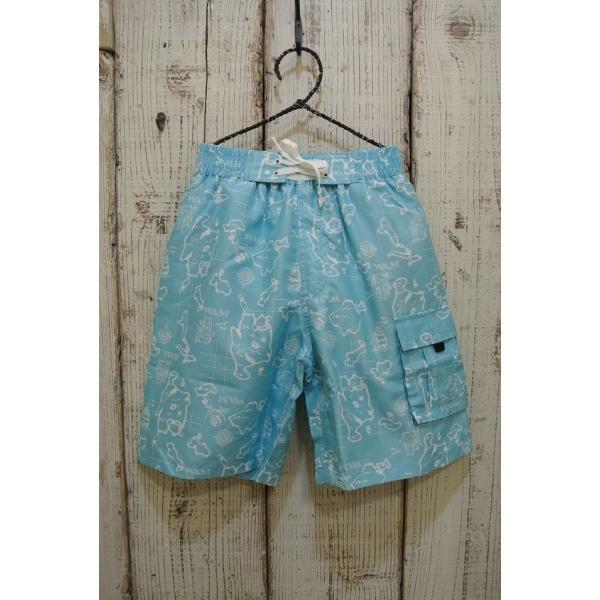 ワムワム WAMWAM 海賊マップ柄のサーフパンツ水着 子供服 セール キャリー春夏