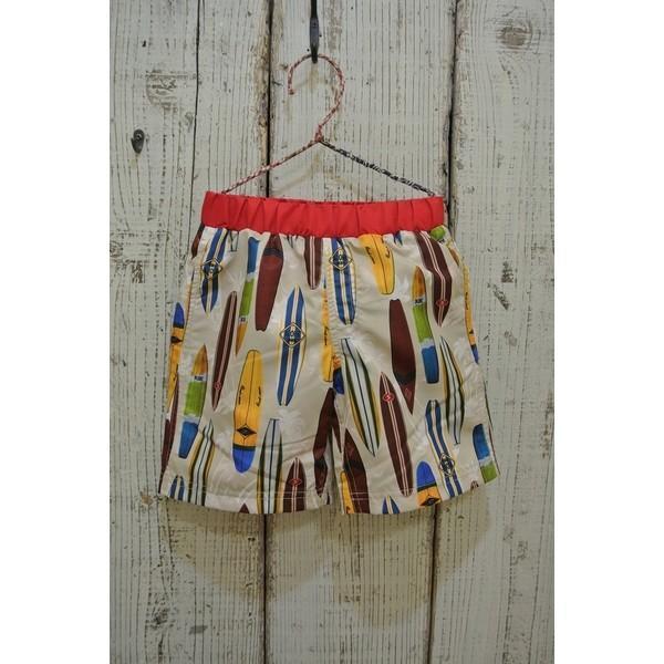ampersand アンバサンド サーフボード柄のサーフパンツ水着 子供服 セール キャリー春夏