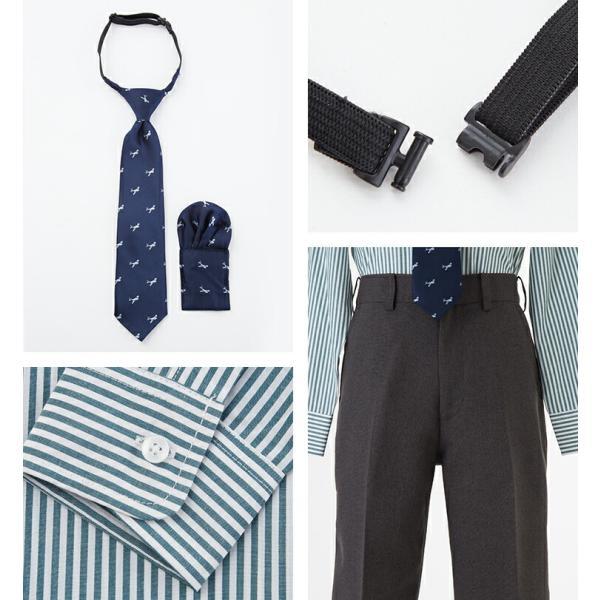 入学式 スーツ 男の子 小学生 卒園式 子供服 ブラックフォーマル 5点セット スーツ 110 120 130cm キッズフォーマル クロスチェック コン|kids-robe|09