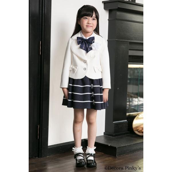 ブラックフォーマル 入学式 スーツ 女の子 5点セット デコラピンキーズ 120cm・130cm 子供服 女児スーツ フォーマルスーツ|kids-robe|02
