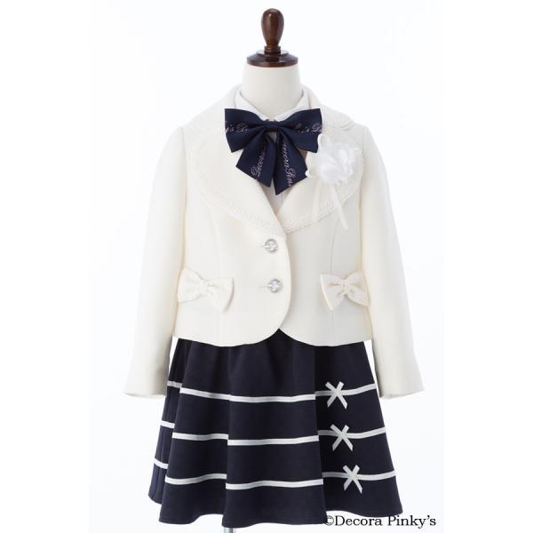 ブラックフォーマル 入学式 スーツ 女の子 5点セット デコラピンキーズ 120cm・130cm 子供服 女児スーツ フォーマルスーツ|kids-robe|06