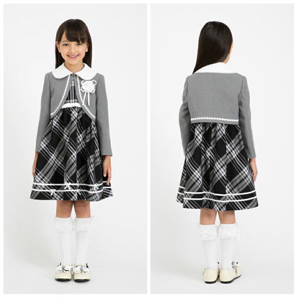 入学式 スーツ 女の子 3点セット ブラックフォーマル アリスマジック 120cm・130cm 子供服 女児 フォーマルスーツ キッズフォーマル 卒園式 七五三|kids-robe|04
