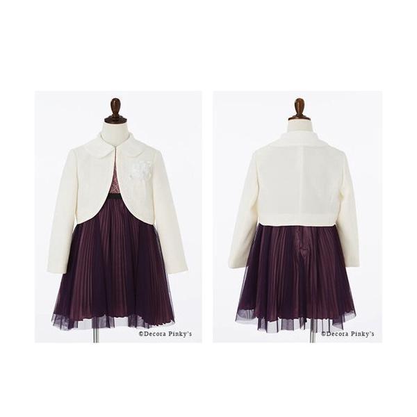 入学式 子供服 女の子 スーツ ボレロワンピース DECORA PINKY'S デコラピンキーズ 120cm・130cm 子供服 フォーマル kids-robe 12