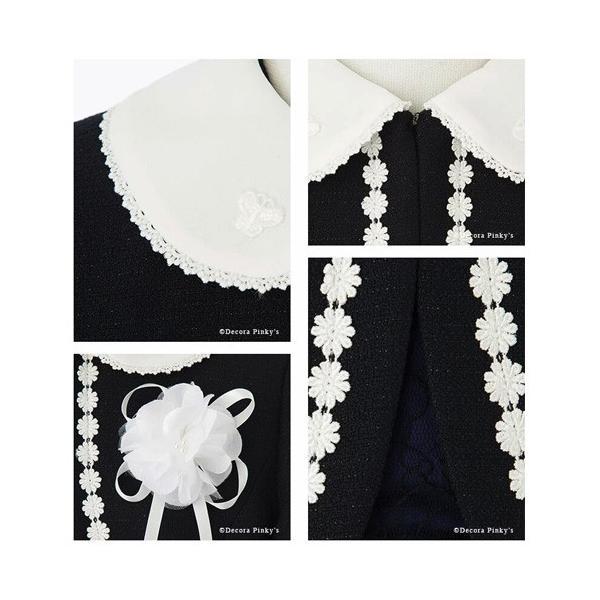入学式 子供服 女の子 スーツ ボレロワンピース DECORA PINKY'S デコラピンキーズ 120cm・130cm 子供服 フォーマル kids-robe 15
